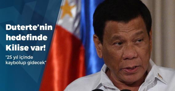 """Duterte: """"Ruhbanının çocuklara taciz peşinde koştuğu bir dine kimin ihtiyacı var?"""""""
