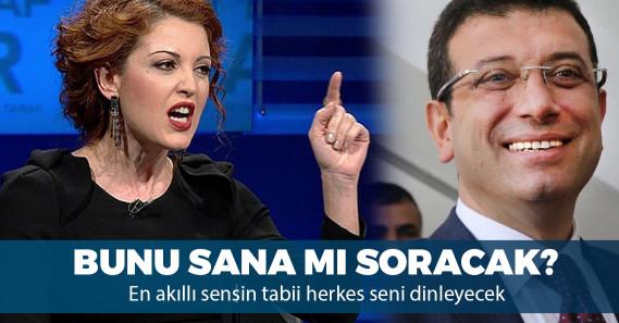 """Nagehan Alçı: """"Çok açıkça uyarıyorum, İmamoğlu derbiye gitmemeli"""""""