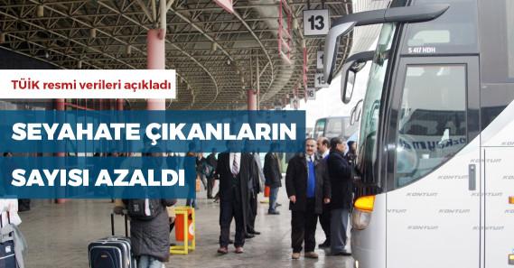 Türkiye'de toplam seyahat sayısı geçen yıla göre azaldı