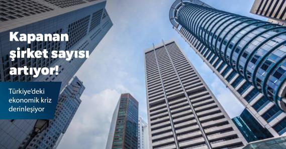Nisanda kapanan şirket sayısı yüzde 13 yükseldi