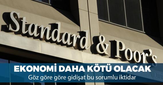 """S&P: """"Türkiye'de ekonomik küçülme devam edecek"""""""
