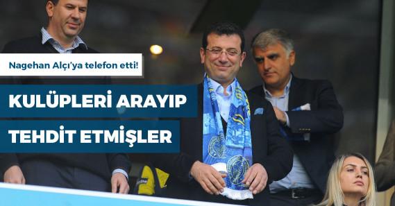 """""""Hem Beşiktaş'a, hem Fenerbahçe'ye İmamoğlu maça gelmesin diye telefon açıldı"""""""