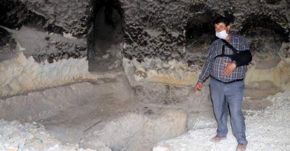 Bizans döneminden kalma kuyuya moloz doldurdular