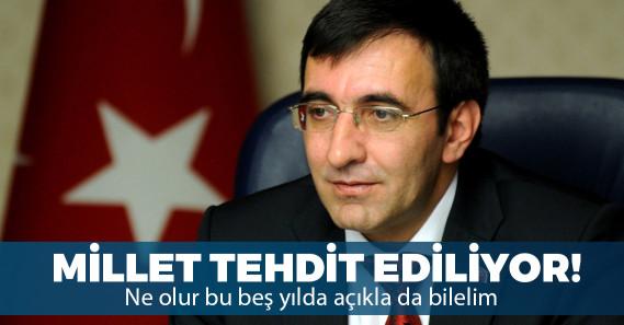 """AKP'li Cevdet Yılmaz: """"Burada farklı bir sonuç ortaya çıkarsa, 5 yıl rahat uyuyamayız"""""""