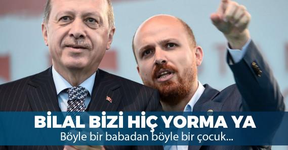 """Bilal Erdoğan: """"Cumhurbaşkanımıza 'diktatör' diyorlar ama bakıyorsunuz 60'ın üzerinde ile gidiyor"""""""