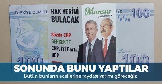 Ankara'da Mansur Yavaş hakkında bir kirli propaganda daha!