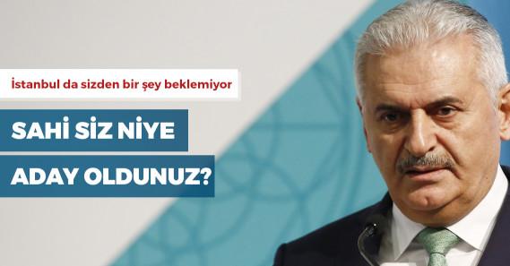 """Binali Yıldırım: """"İstanbullu benden pek bir şey istemiyor"""""""