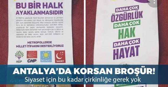 Antalya'da korsan broşürler dağıtılmaya başlandı