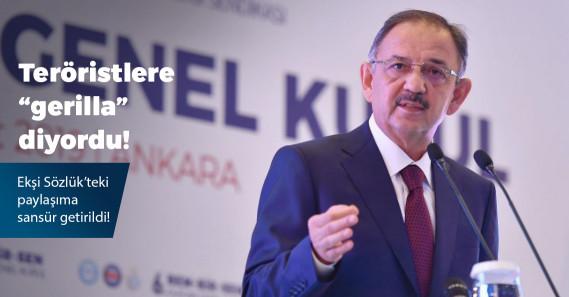 """Mehmet Özhaseki'nin PKK'lı teröristlere """"gerilla"""" dediği görüntüler engellendi"""
