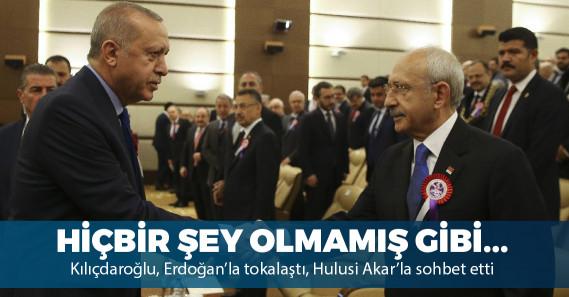Erdoğan ve Kılıçdaroğlu tokalaştı